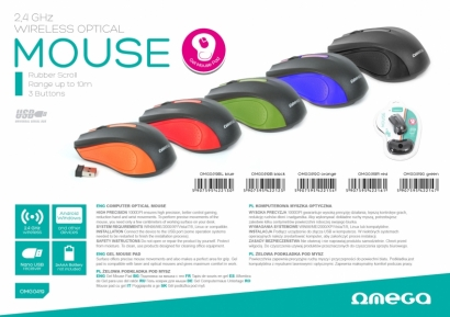 Omega om419 mouse wireless + mouse pad