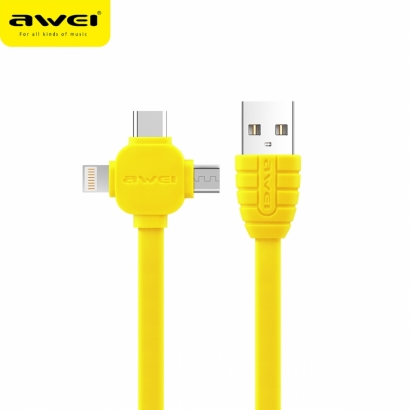 Awei cl-82 cavo lightning microusb type-c 3in1 1m