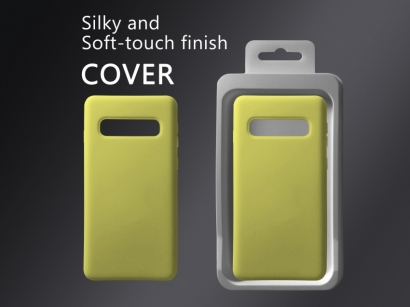 Cover 04 custodia in silicone per Samsung Galaxy S10 giallo #10