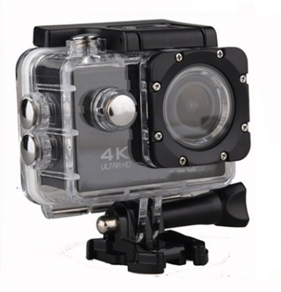 Action cam 4k ultra HD wi-fi 16mp nero