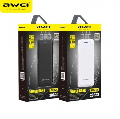 Awei p66k powerbank 20000mAh