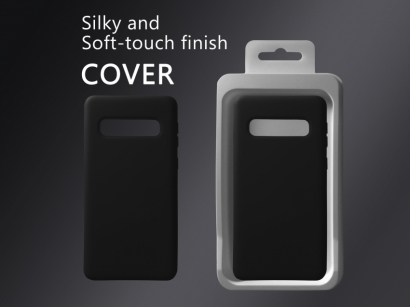 Cover 04 custodia in silicone per Samsung Galaxy S10 nero #1