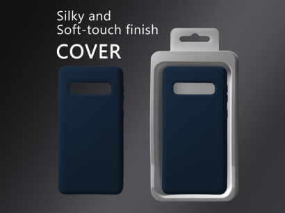Cover 04 custodia in silicone per Samsung Galaxy S10 blu scuro #2