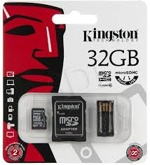 Kingston memoria card microsdhc class 4 3in1 32GB