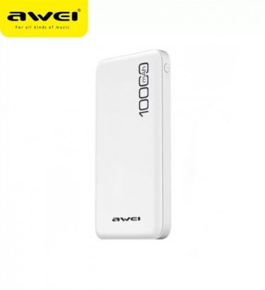 Awei p28k mini powerbank, 2usb, 2.1a, 10000mAh