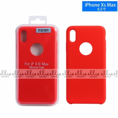 Ellie FO101 custodia cover in silicone con cerchio per logo per Iphone XS max