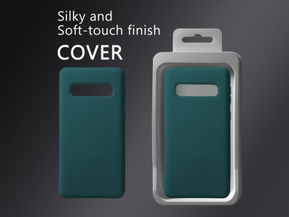 Cover 04 custodia in silicone per Samsung Galaxy S10 cobalto turchese #3