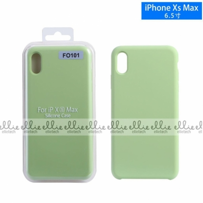 Ellie fo101 custodia cover in silicone per Iphone XS max verde