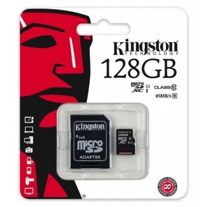 Kingston memoria card microsd class 10 128GB