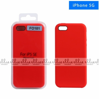 Ellie FO101 custodia cover in silicone per Iphone 5 rosso