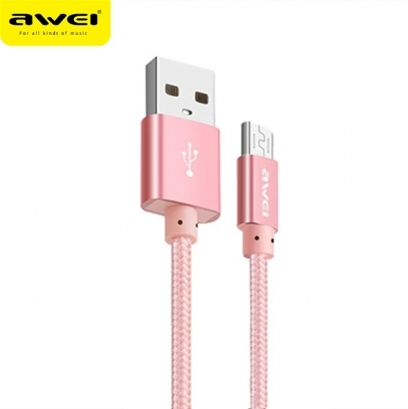 Awei cl-10 cavo microusb 30cm rosa