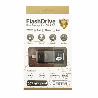 ITA  Alta Capacità iPAD USB Flash Drive 16GB NERO
