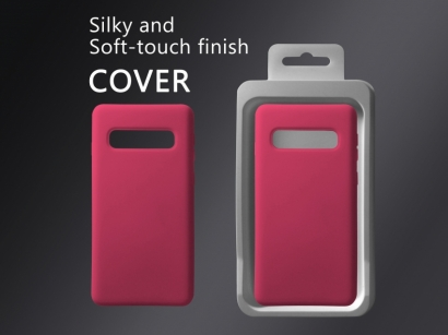 Cover 04 custodia in silicone per Samsung Galaxy S10 fucsia #6