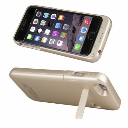 Custodia cover powerbank con batteria per Iphone 6 plus 3800mAh oro