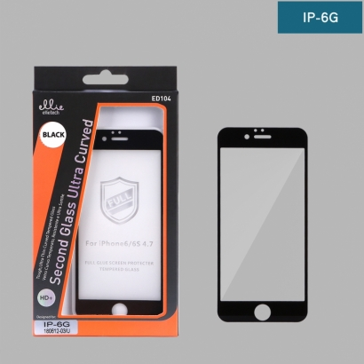 Ellie ED104 pellicola di vetro temperato full glue 4d nero Iphone 6g
