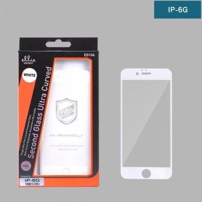 Ellie ED104 pellicola di vetro temperato full glue 4d per iPhone 6 g