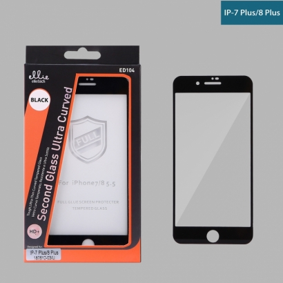 Ellie ED104 Pellicola Vetro Temperato Full Glue 4D per IPhone 7/8plus Nero