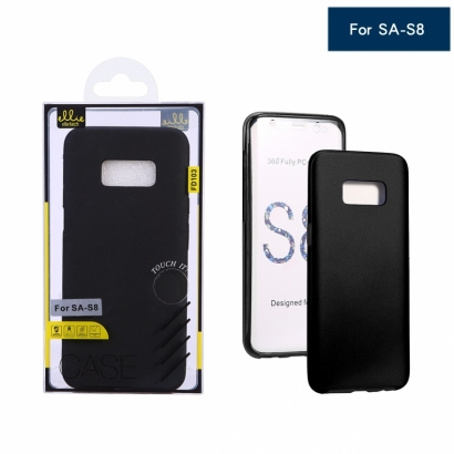 Ellie FD103 Custodia in silicone 360 cover per Samsung S8 Nero