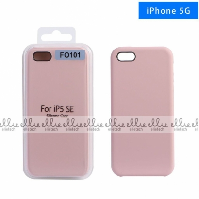 Ellie FO101 custodia cover in silicone per Iphone 5 rosa chiaro