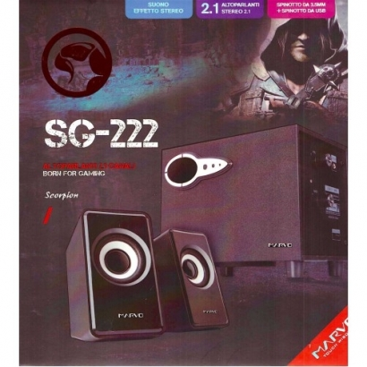 Marvo scorpion sg-222 casse audio altoparlanti for gameing 21 canali