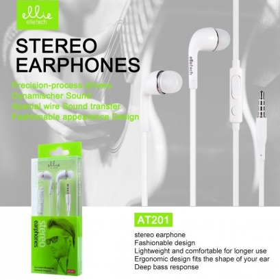 Ellie AT201 auriolare in-ear con microfono e tasti volume