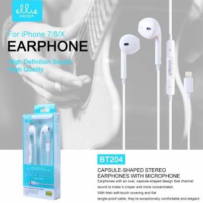Ellie BT204 auricolare stereo bluetooth, lightning