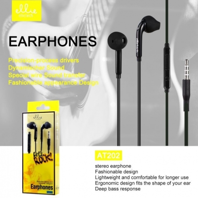 Ellie AT202 auriolare in-ear con microfono e tasti volume