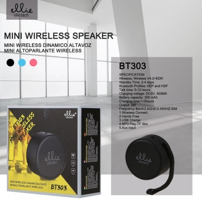 Ellie BT303 Mini Altoparlante Wireless