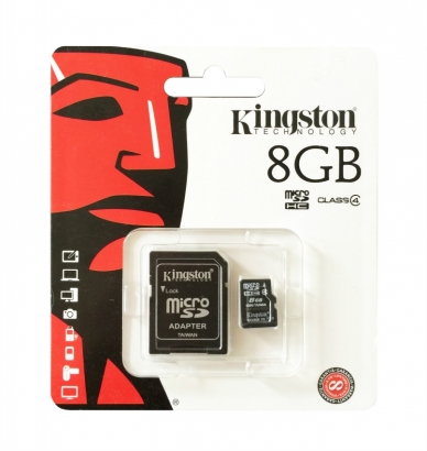 Kingston memoria card microsd class 4 8GB