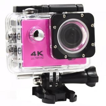 Action cam 4k ultra HD wi-fi 16mp fucsia