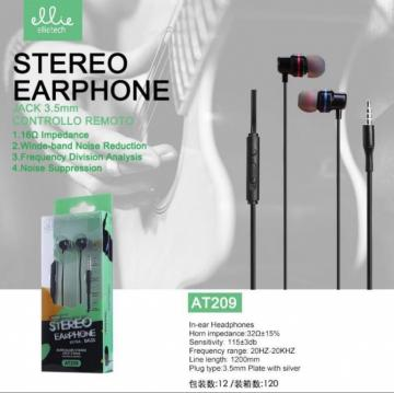 Ellie AT209 auricolare in-ear con microfono + volume incruso