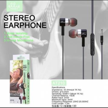 ELLIE AT210 AURICOLARE IN EAR EXTRA BASS