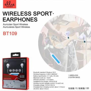 ELLIE BT109 SPORT EARPHONES WIRELESS EXTRA BASS