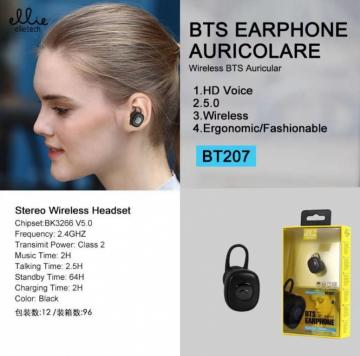 ELLIE BT207 BTS EARPHONE AURICOLARE WIRELESS