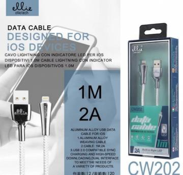 ELLIE CW202 CAVO IN NYLON PER IOS 2A 1M