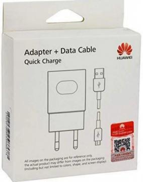 HUAWEI ALIMENTATORE  ADAPTER + DATA CABLE QUICK CHARGE  MICRO USB HW-059200EHQ