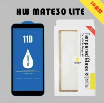 Pellicola vetro temperato 5D per huawei mate 30 lite/nova 5i pro total cover rounded border full glue