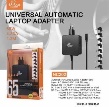 Ellie nc202 universal automatic laptop adapter 65w