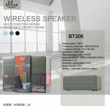 Ellie bt306 wirelless speaker 3w*2 usb,tf,fm