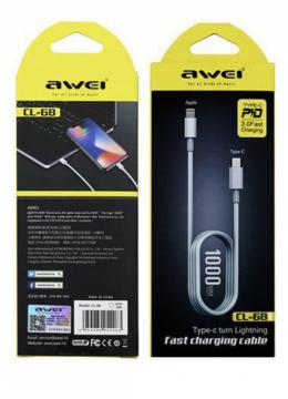 Awei CL-68 type-c turn lightning fast charging cable