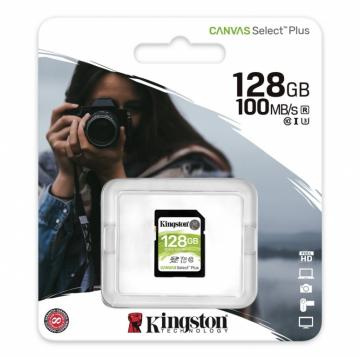 Kingston canvas select plus sd card 100mb/s  128gb