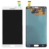 TOUCHSCREEN + DISPLAY LCD DISPLAY COMPLETO SENZA FRAME PER SAMSUNG GALAXY NOTE4 NOTE 4 SM-N910F ORIGINALE