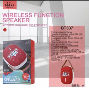 Ellie BT307 Wireless mini speaker 5w