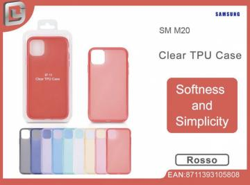 Cover per samsung m20 clear TPU case