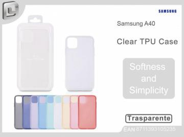 Cover per samsung a40 clear TPU case