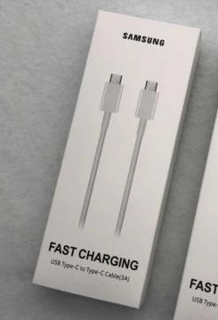 Samsung fasr charging usb type-c to type-c cable (3a) ep-da705bwegww blister