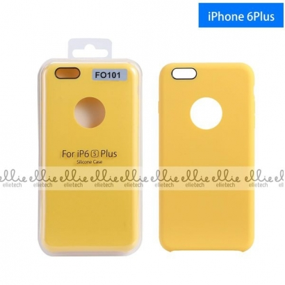 Ellie FO101 custodia cover in silicone con cerchio per logo per Iphone 6 plus