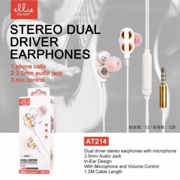 ELLIE AT214 AURICOLARE IN-EAR MIC+VOL