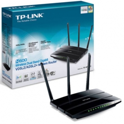 Tp-link td-w9980 modern router wireless adsl2+ n600