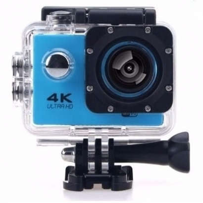 Action cam 4k ultra HD wi-fi 16mp blu